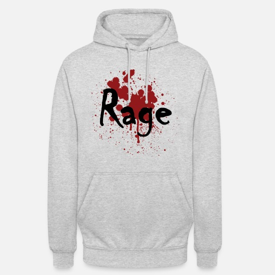 Injured Hoodies & Sweatshirts - RAGE - Unisex Hoodie light heather grey
