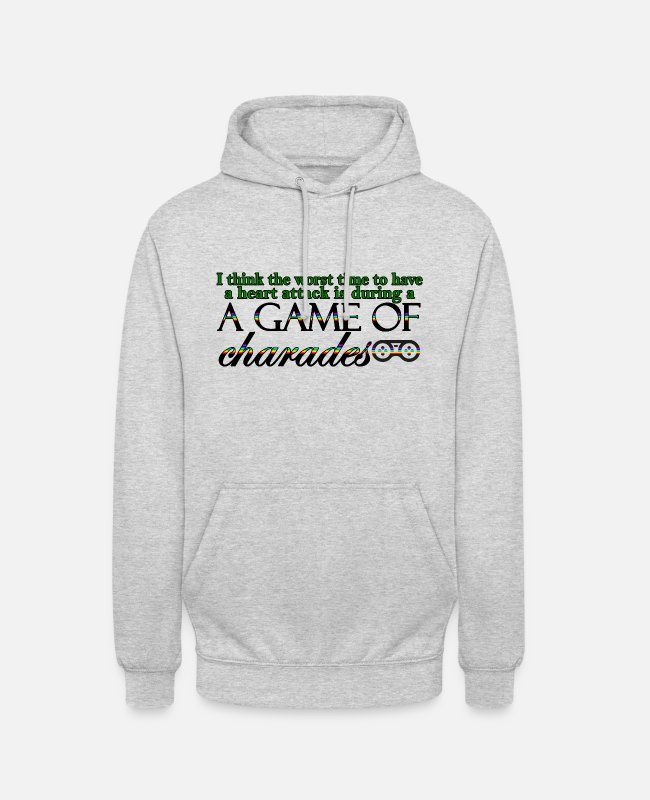 Heart Hoodies & Sweatshirts - Game of Charades 53 G - Unisex Hoodie light heather grey