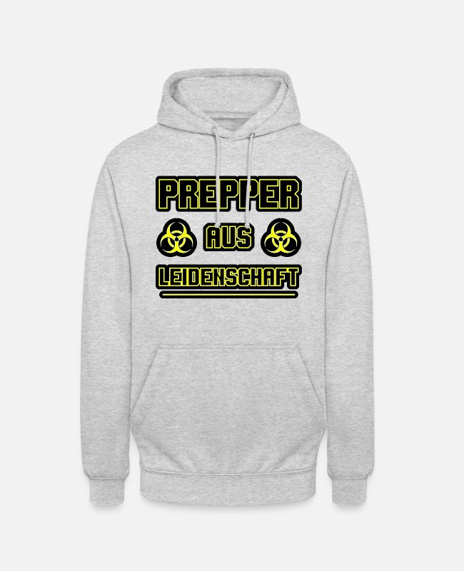 Present Hoodies & Sweatshirts - Prepper passionate gift - Unisex Hoodie light heather grey