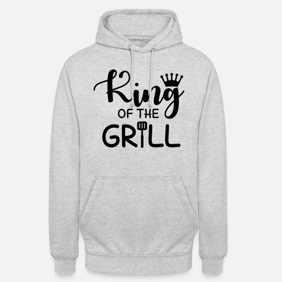Grill Hoodies & Sweatshirts - King of the Grill - Unisex Hoodie light heather grey