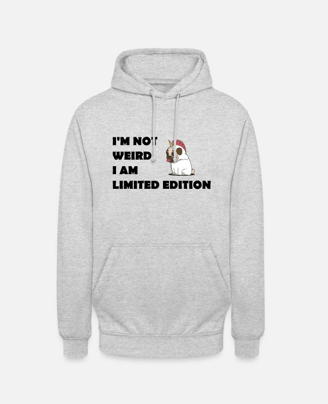 Quote Hoodies & Sweatshirts - Limited Quote Funny funny funny unicorn - Unisex Hoodie light heather grey