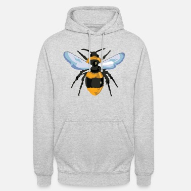 Closeup Bee from hive in closeup for beekeeper - Unisex Hoodie