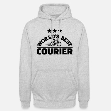 Courier World's best bike courier - Unisex Hoodie
