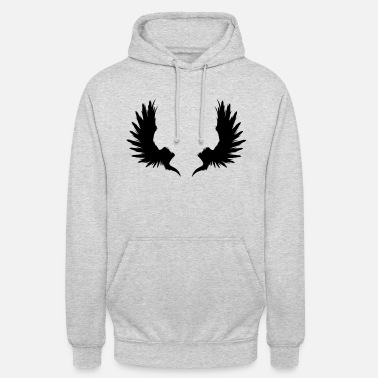 Cow Underwear Back Wings - Unisex Hoodie