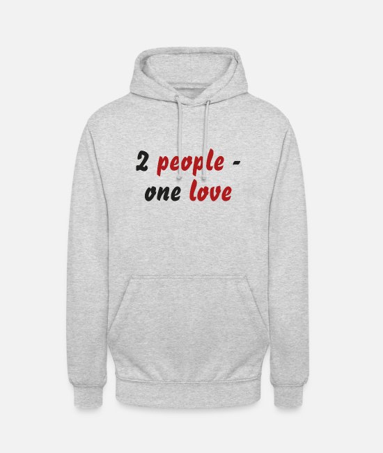Engagement Hoodies & Sweatshirts - 2 people - one love - Unisex Hoodie light heather grey