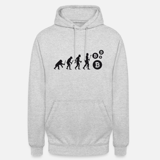 Trader Hoodies & Sweatshirts - Evolution Bitcoin Bit Coin Shirt - Unisex Hoodie light heather grey