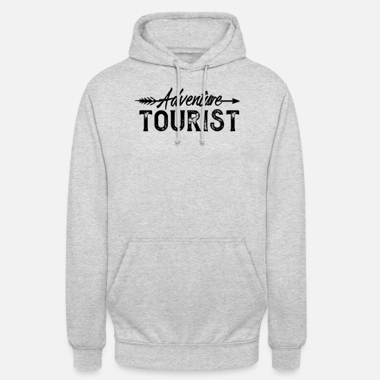 Safari Sweat-shirts - Tourisme aventurier tourisme aventure - Sweat à capuche unisexe gris clair chiné