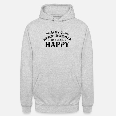 I Love My Bernedoodle makes me happy dog - Unisex Hoodie