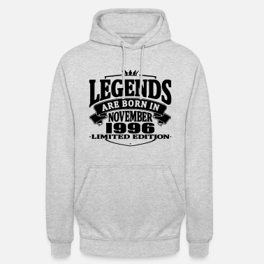 1996 Legends are born in november 1996 - Unisex Hoodie