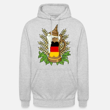 Thirst Quencher Germany Beer Tankard - German Flag Beer Stein - Unisex Hoodie