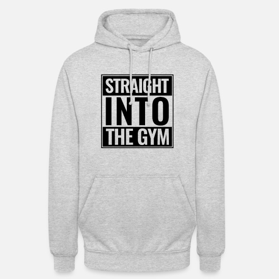 Bestsellers Q4 2018 Hoodies & Sweatshirts - Sports Gym Training Straight Into The Gym - Unisex Hoodie light heather grey