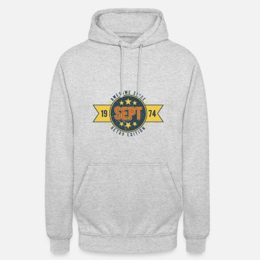 1974 Geburtstag September 1974 Awesome since RETRO 46 - Unisex Hoodie