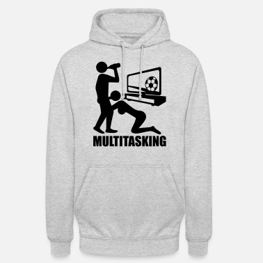 Piktogramm logo design text multitasking sex blow job blasen - Unisex Hoodie