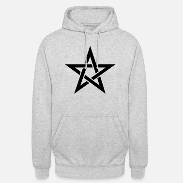 Pentacle Pentagram, pentacle, magic, symbol, witchcraft, - Unisex Hoodie