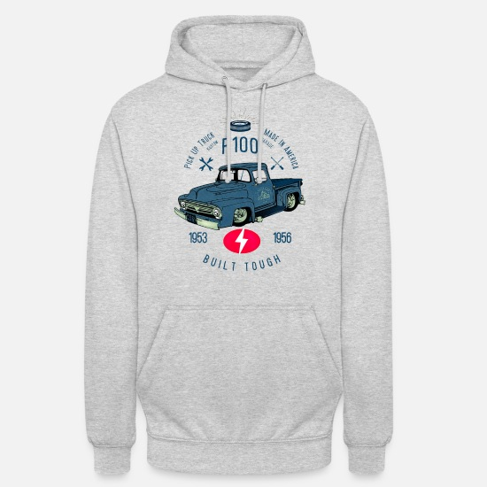 Bikes And Cars Collection V2 Hoodies & Sweatshirts - F100 Built Tough - Unisex Hoodie light heather grey