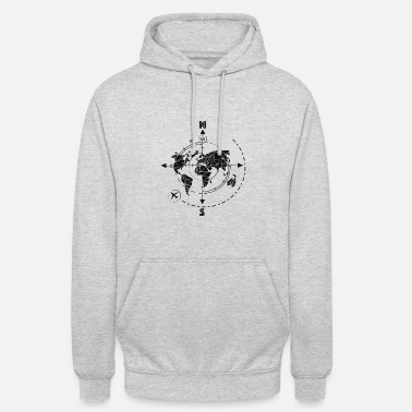 Reisen time travel linear / explore, adventure, reisen - Unisex Hoodie