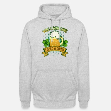 St Patricks Day Party Shirt Shamrock Beer Gift - Unisex Hoodie