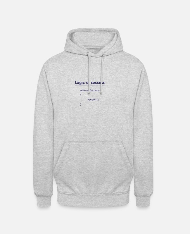 Program (what You Do) Hoodies & Sweatshirts - success - Unisex Hoodie light heather grey