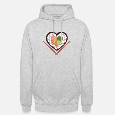 Sushi heart for avocado and salmon sushi fans - Unisex Hoodie
