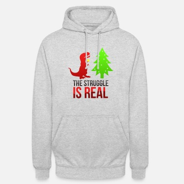 Trex - The struggle is real - Unisex Hoodie