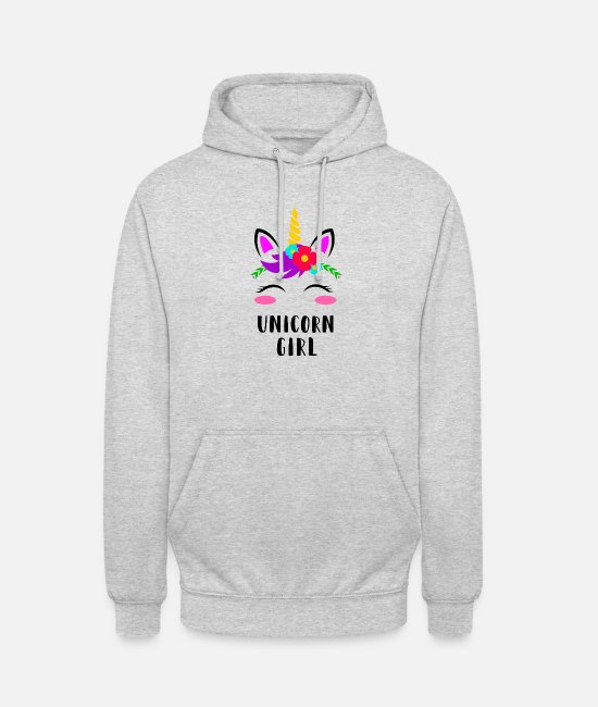 Dream Hoodies & Sweatshirts - Unicorn Girl - Unicorn Girl Princess Gift - Unisex Hoodie light heather grey