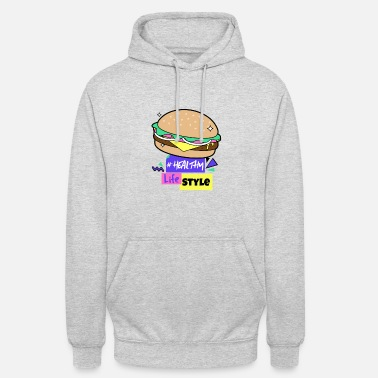 Fast Food Fast Food Healthy Lifestyle Cheesburger - Unisex Hoodie