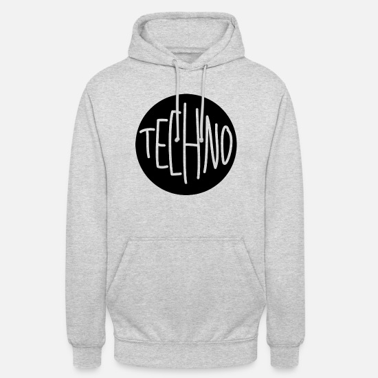 Techno Sweat-shirts - Techno Techno - Sweat à capuche unisexe gris clair chiné