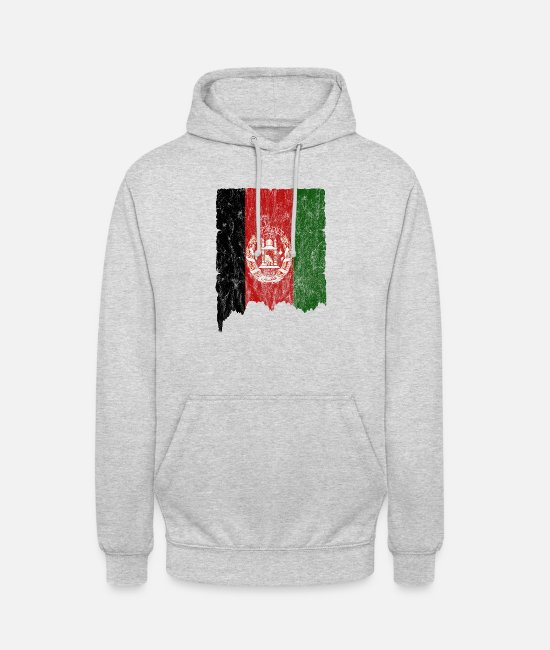 Afghanistan Hoodies & Sweatshirts - Afghanistan Flag Vintage Used Look - Unisex Hoodie light heather grey