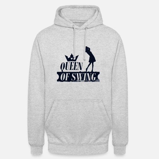 Cross Golf Hoodies & Sweatshirts - Queen of Swing Golf - golfer lustik - Unisex Hoodie light heather grey