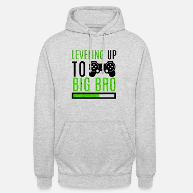 Leveling Up Big Brother Big Brother Level Up Brothers Familie Pasgeboren - Unisex hoodie