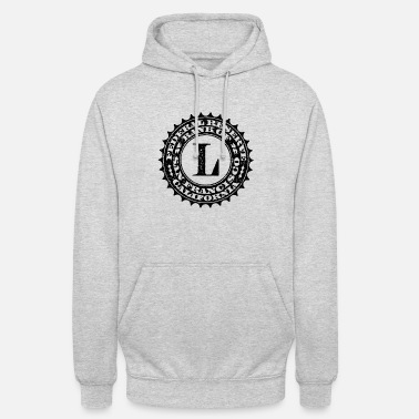Federal Reserve United States one dollar bill fed seal L - Unisex Hoodie