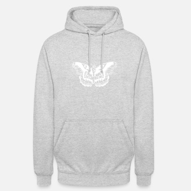 Niall Horan H Styles Butterfly Tattoo (wit) - Unisex hoodie