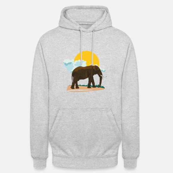 Tanzania Hoodies & Sweatshirts - Elephant or elephant? - Unisex Hoodie light heather grey