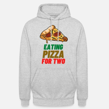 Gains Eating Pizza For Two Schwangerschaft Schwanger - Unisex Hoodie