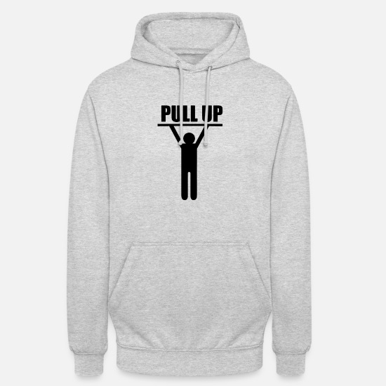 Up Hoodies & Sweatshirts - pull up - Unisex Hoodie light heather grey
