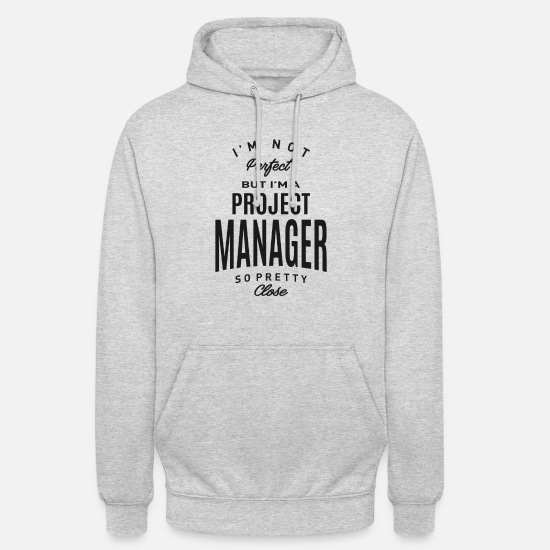Typography Hoodies & Sweatshirts - Project Manager Art - Unisex Hoodie light heather grey