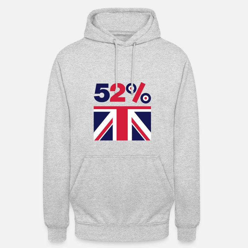 Brexit Hoodies & Sweatshirts - Brexit 52% Leave EU - Unisex Hoodie light heather grey