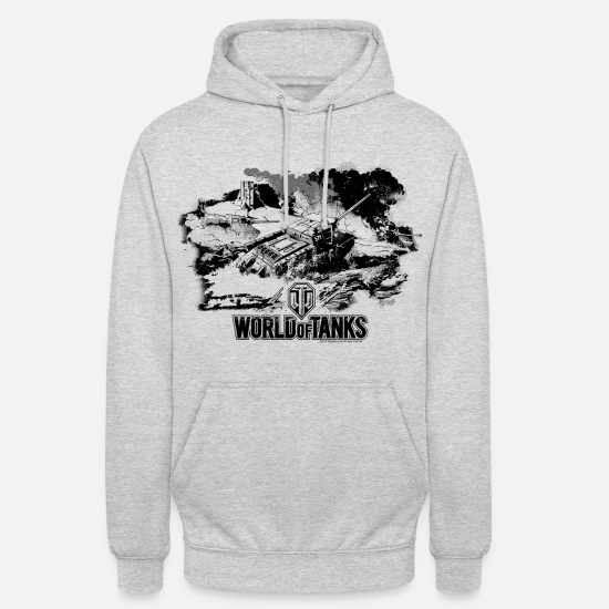 World Of Tanks Felpe - World of Tanks Battlefield Mono Men Longsleeve - Hoodie unisex grigio chiaro melange