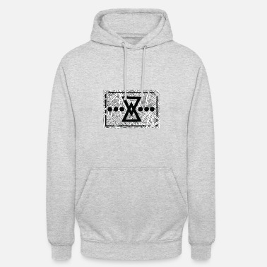 TRI / moderno, hipster, astratto, modello, forma - Hoodie unisex