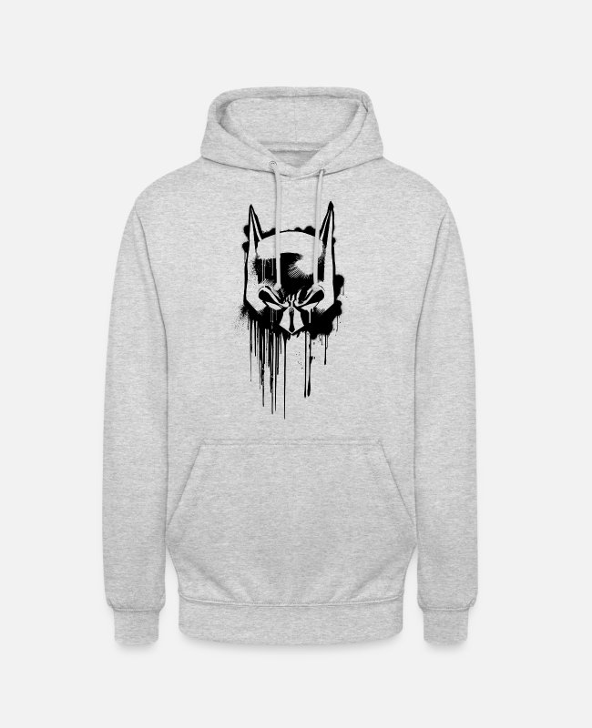 Comic Super Heroes Hoodies & Sweatshirts - Batman Mask Superhero - Unisex Hoodie light heather grey