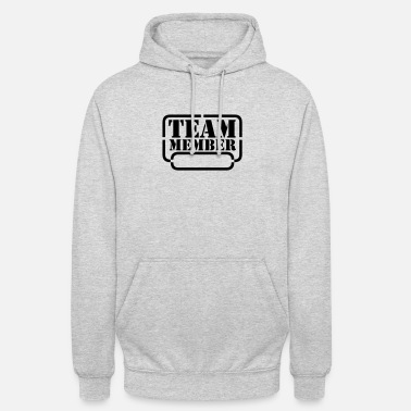 Text name your team member - Unisex Hoodie