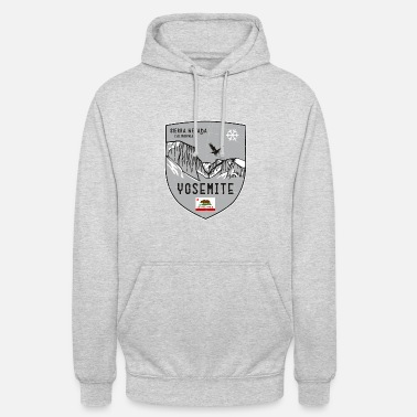 Helped Dome Yosemite USA coat of arms - Unisex Hoodie