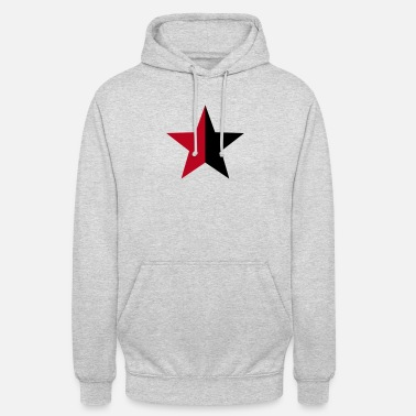 Caos Anarchy Star Rebel Revolution Fight Left Red Black - Sudadera con capucha unisex