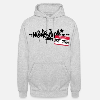 Graffiti Now-School - Hallo mein Name ist nicht John (Red) - Unisex Hoodie