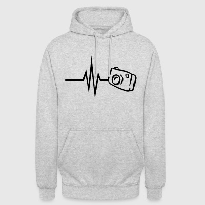 My heart beats for photography camera photographer - Unisex Hoodie