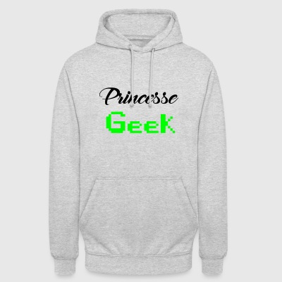 princesse geek - Sweat-shirt à capuche unisexe
