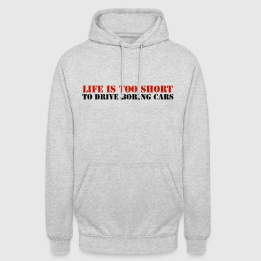 STENCIL_LIFE_IS_TOO_SHORT - Luvtröja unisex