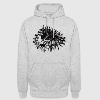 Art color blob black vintage - Unisex Hoodie