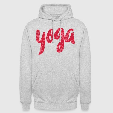 Yoga lettering with Mehndi ornaments - Unisex Hoodie