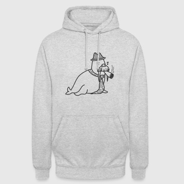 Walrus with mustache - Unisex Hoodie